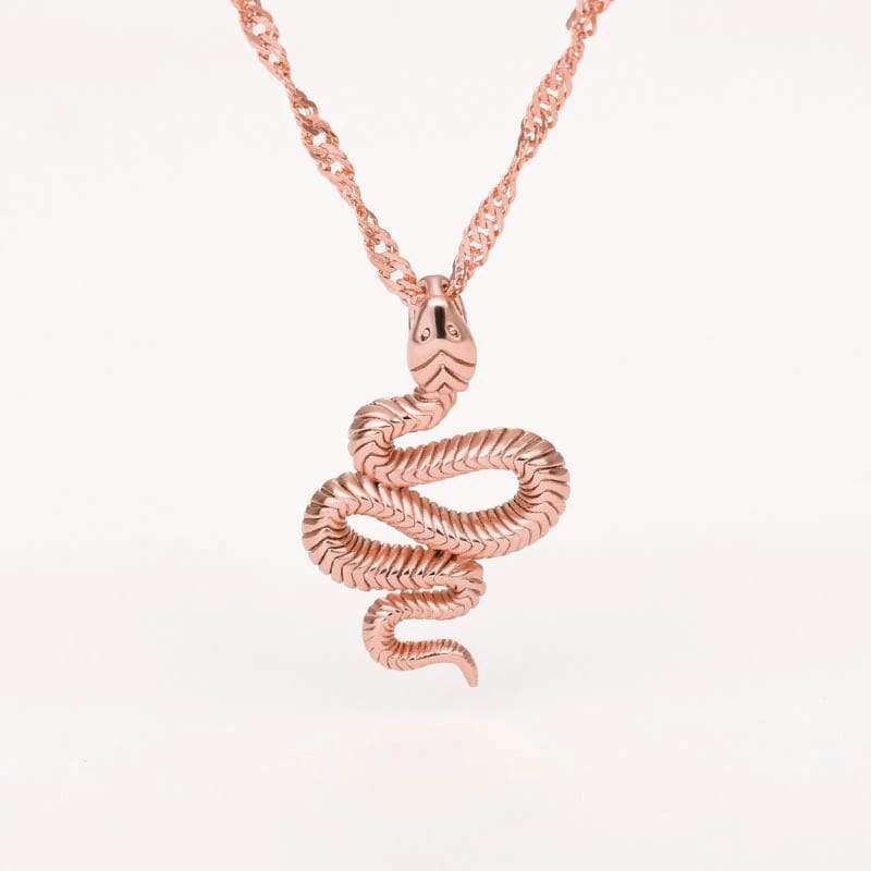 Collier Serpent Or Rose