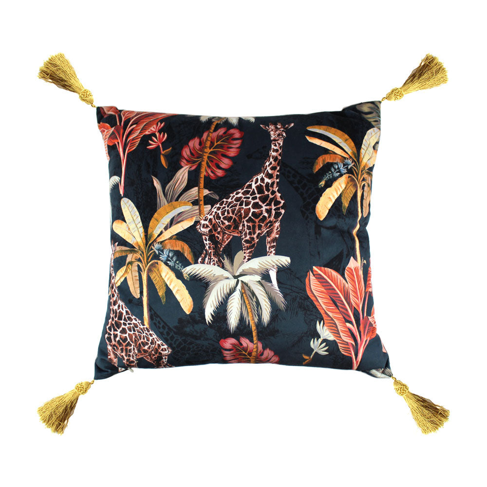 Feather filled Cushions - Simone Navy/Coral (2 variants)