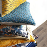 Load image into Gallery viewer, Feather filled Cushions - Lapis Teal (3 variants)