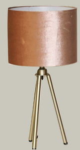 Blush Tri Pod Table Lamp