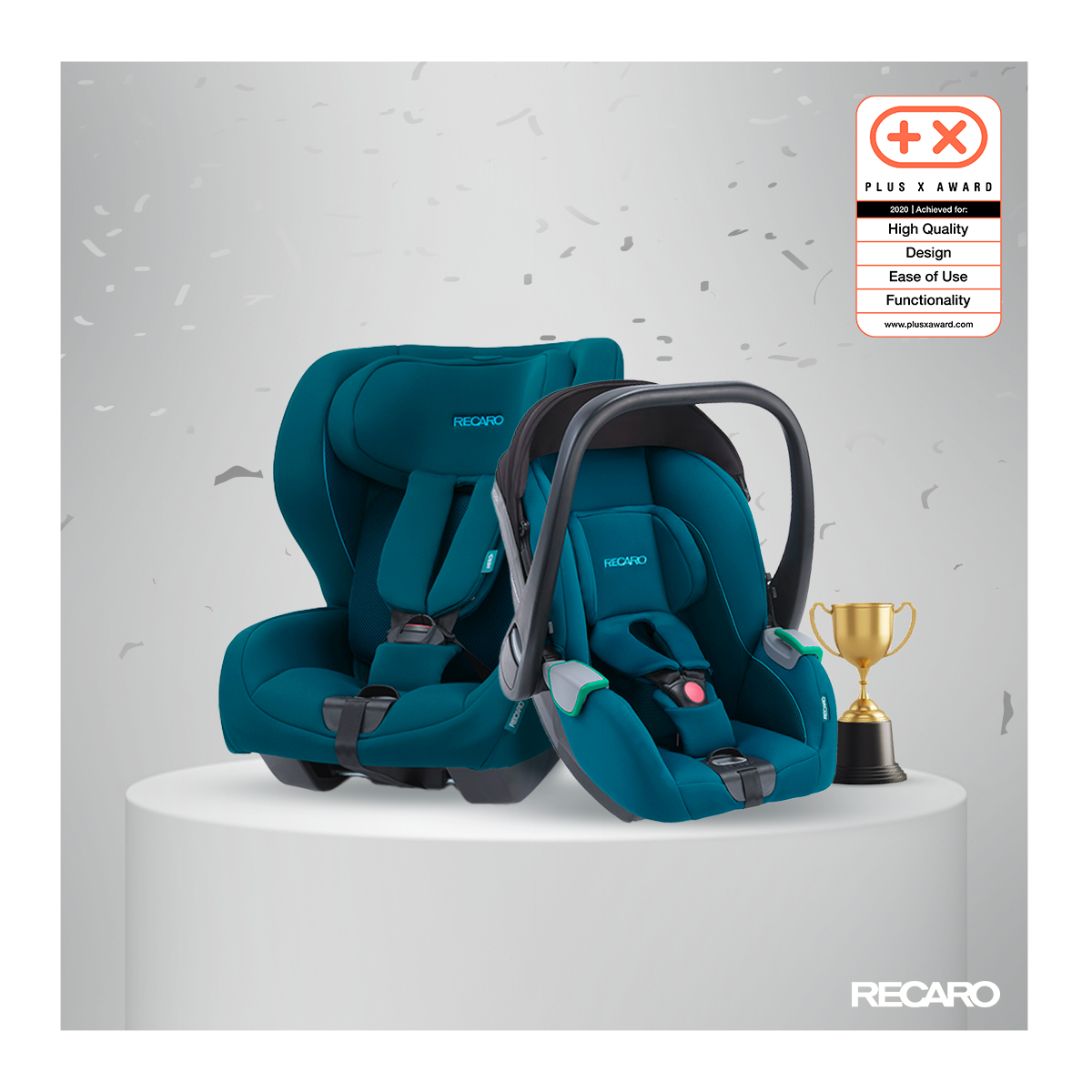 RECARO Avan and Kio win the Plus X Award 2020!