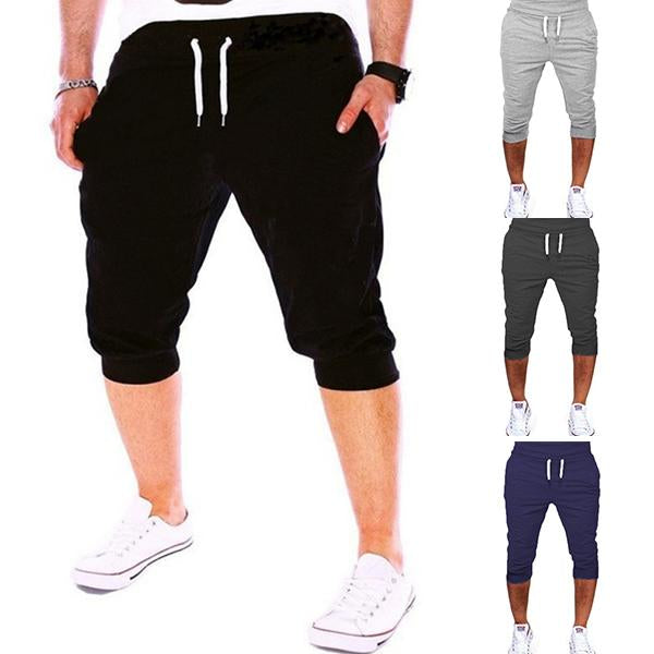 Men's Sports Pants Shorts Trousers Tracksuit Fit Workout Joggers Gym Sweatpants