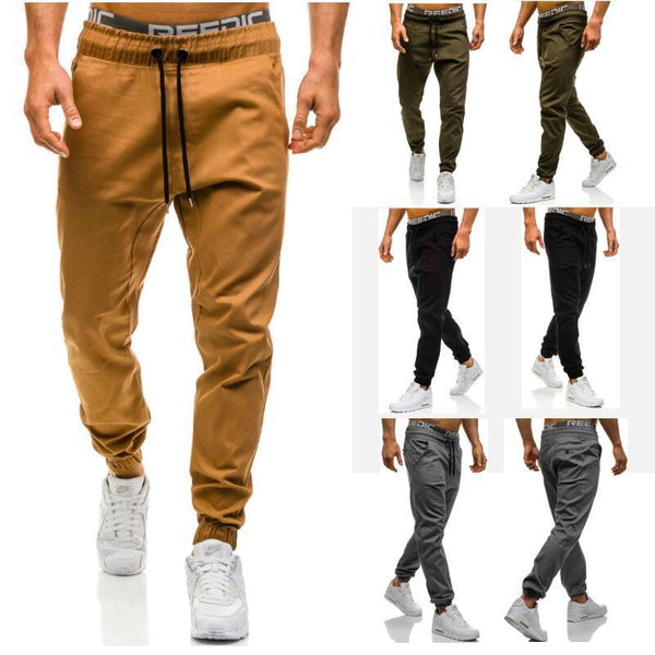 Herren Casual Lace Elastic Sports Baggy Pants