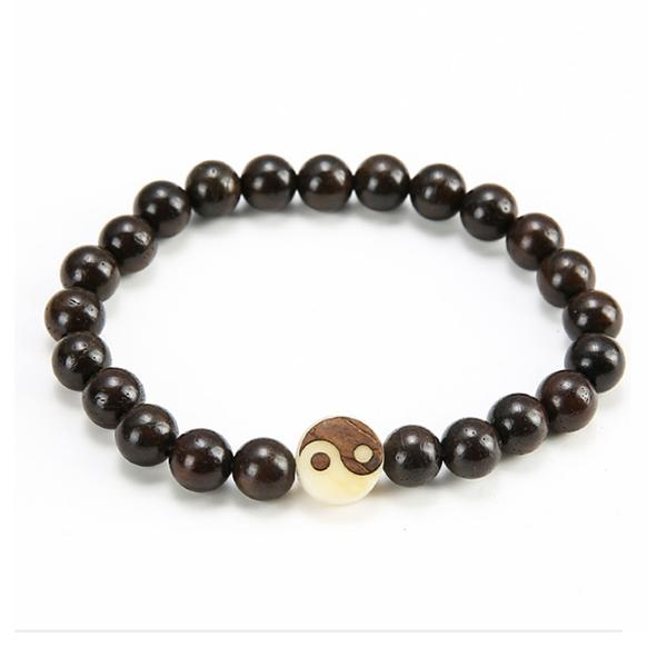 Men's Ebony Beaded Bracelet
