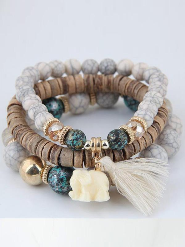 Wild Bohemian Tassel Beaded Multilayer Bracelet