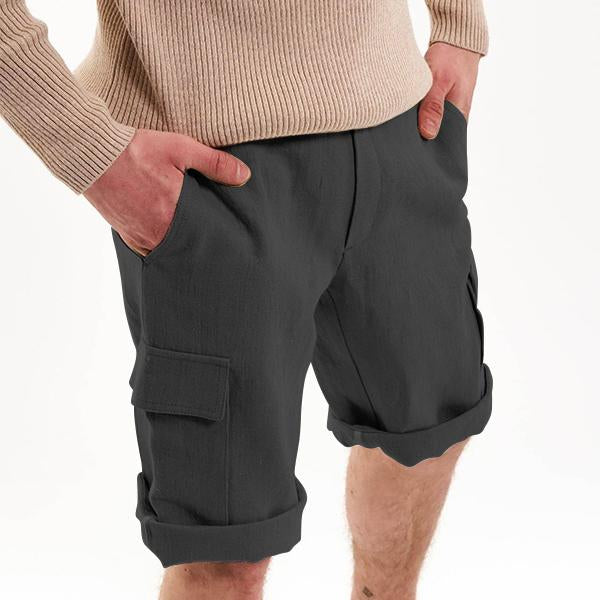 Linen multi-bag shorts for men