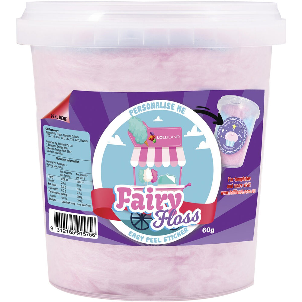 Fairy Floss Tub Large 2 Litre Tub (120g)