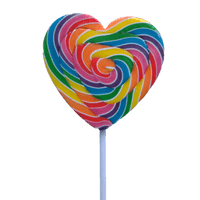 Rainbow 85g Heart Pop