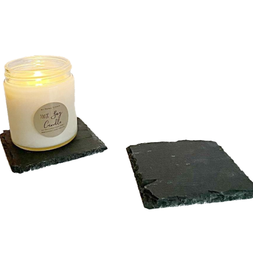 "4"" Slate Candle Coasters freeshipping - At Home Scents by Kim"