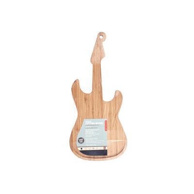 Kikkerland Novelty Bamboo Cutting Board Guitar