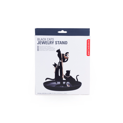 Kikkerland Novelty Black Cats Jewelry Holder