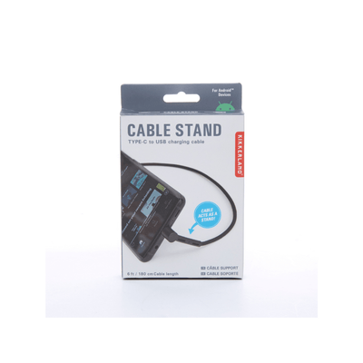 Kikkerland Novelty Cable Stand Charging Cord Type C