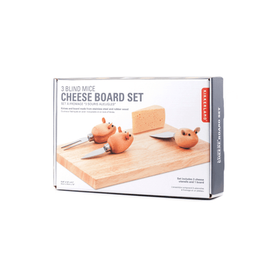 Kikkerland Novelty Cheese Board And 3 Mouse Knives