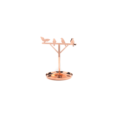 Kikkerland Novelty Copper Bird is the Word Jewelry Stand