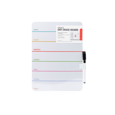 Kikkerland Novelty Daily Dry Erase Board