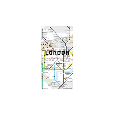 Kikkerland Novelty London Map Magnets
