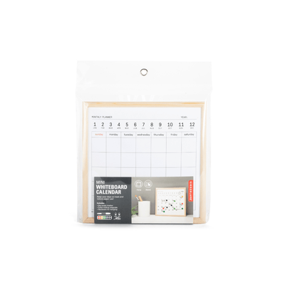Kikkerland Novelty Mini White Board Calendar