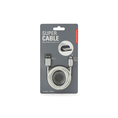 Kikkerland Novelty Super Cable Silver