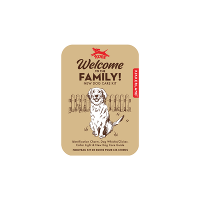 Kikkerland Novelty Welcome To The Family Dog Kit
