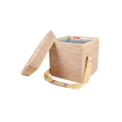Kikkerland Novelty Wicker Picnic Cooler Seat
