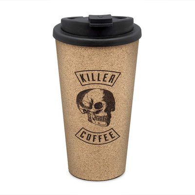 Luckies Of London Novelty Killer Coffee - Reusable Cork Coffee Cup