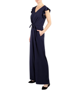 Load image into Gallery viewer, Flutter Sleeve Jumpsuit with Tie Front Waist
