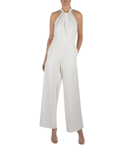 Knot Neck Halter Jumpsuit