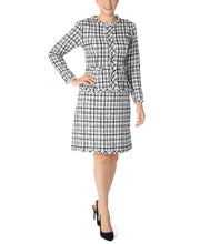 Load image into Gallery viewer, TWEED POPOVER LONG SLEEVE DRESS
