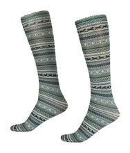 Load image into Gallery viewer, Fair Isle Boot Sock