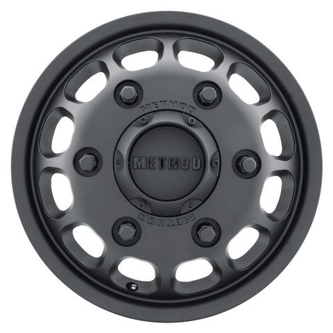 Method MR901 - FRONT 16x5.5 +117mm Offset 6x205 161.04mm CB Matte Black Wheel