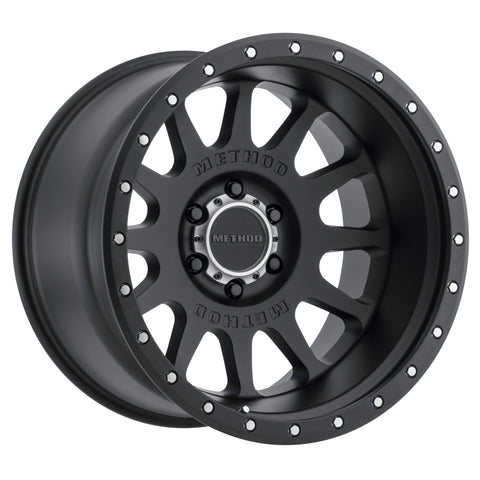 Method MR605 NV 20x10 -24mm Offset 6x135 87mm CB Matte Black Wheel