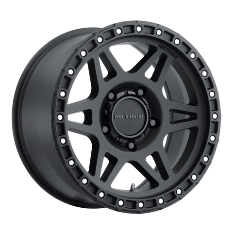 Method MR312 17x8.5 0mm Offset 5x150 110.5mm CB Matte Black Wheel