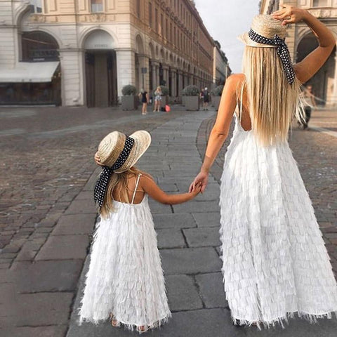 Matching Long Dresses for Mommy and Me