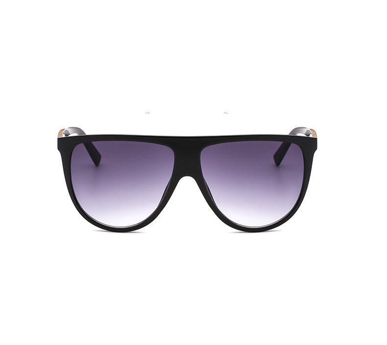 Black On Black Smoke Tint Oversized Round Sunglasses