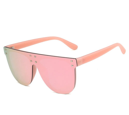 Pink On Pink Oversized Mirror Lens Sunglasses