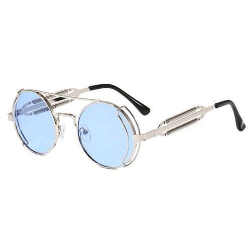 MILAN | Silver On Silver Mirror Rounded Sunglasses