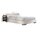 Manjot White PU California King Bed image