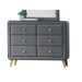 Valda Light Gray Fabric Dresser image