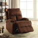 Rosia Chocolate Microfiber Recliner (Motion) image
