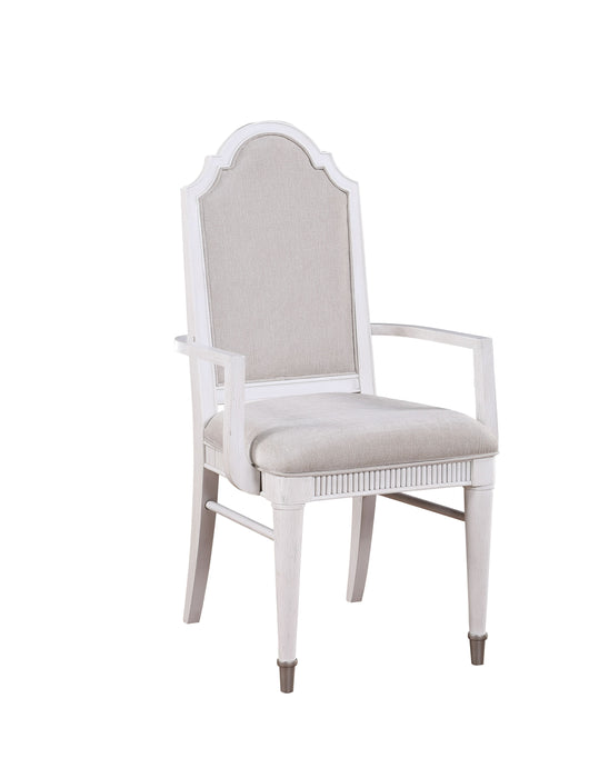 Celestia Fabric & Off White Arm Chair image