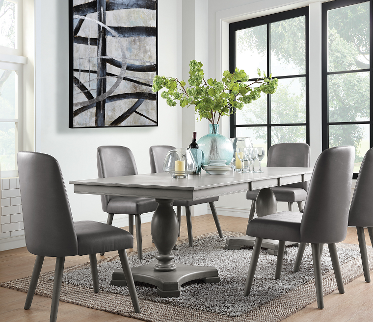 Waylon Gray Oak Dining Table image