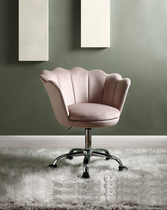 Micco Rose Quartz Velvet & Chrome Office Chair image