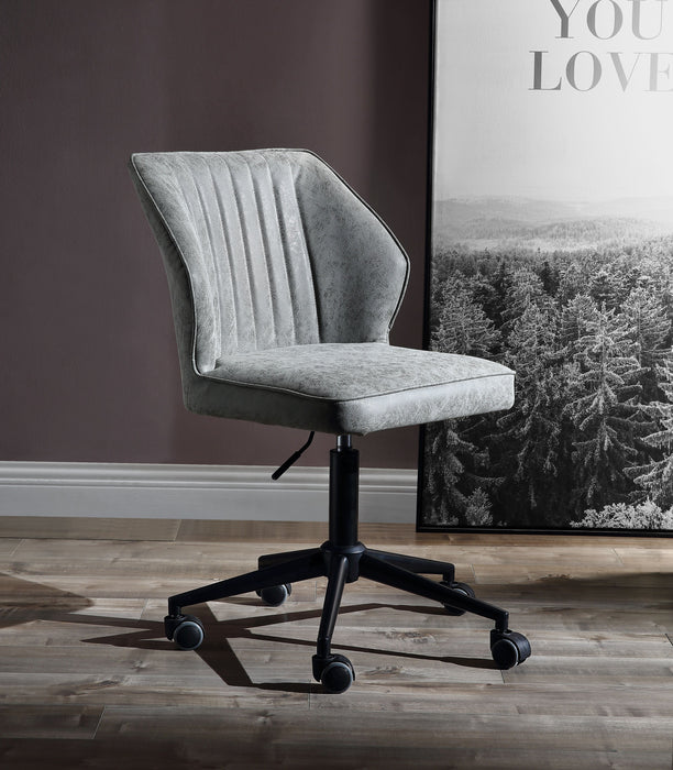 Pakuna Vintage Gray PU & Black Office Chair image