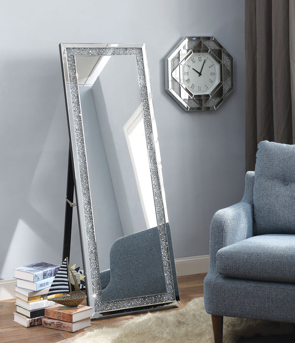 Noralie Mirrored & Faux Diamonds Accent Mirror (Floor) image