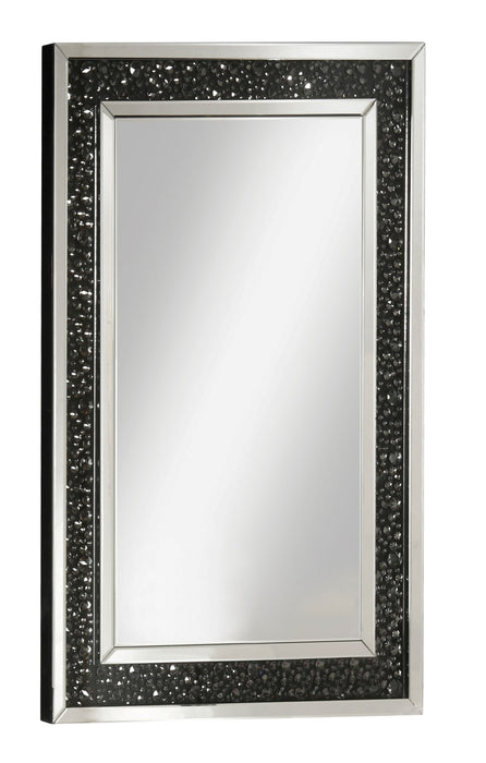 Noor Mirrored & Faux GemStones Wall Decor image