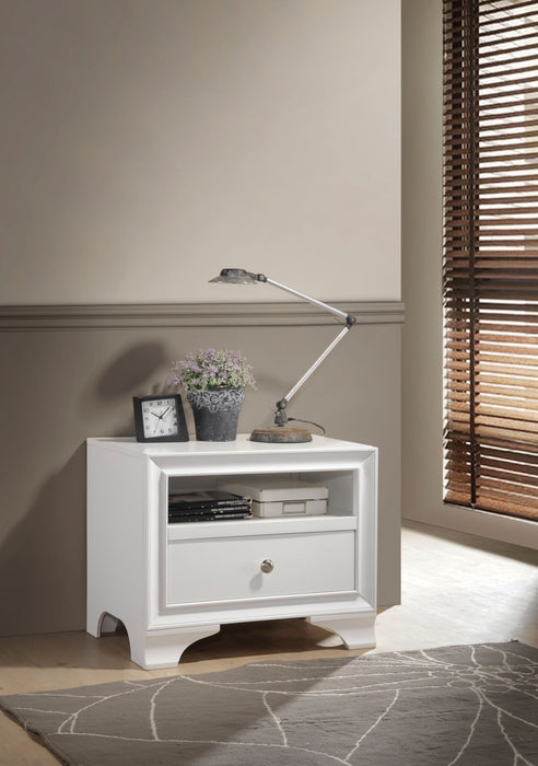 Blaise White Accent Table image