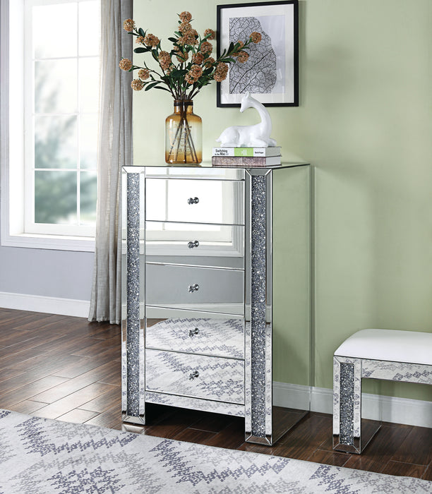 Noralie Mirrored & Faux Diamonds Chest image