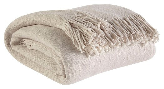 Haiden Signature Design by Ashley IvoryTaupe Throw Set of 3