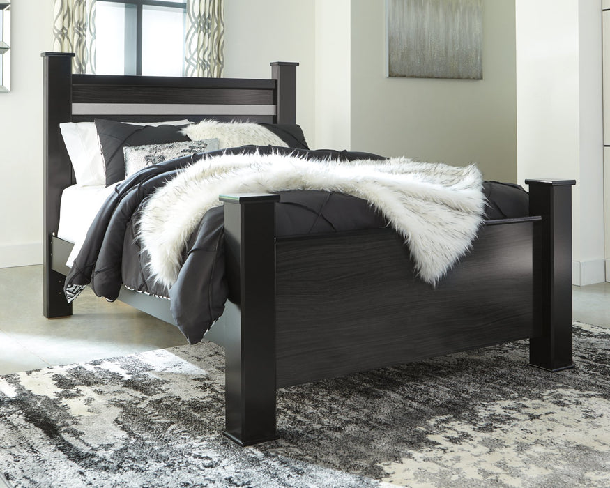 Starberry Signature Design by Ashley Black Queen Poster Bed