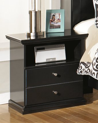 Maribel Signature Design by Ashley Black One Drawer Nightstand